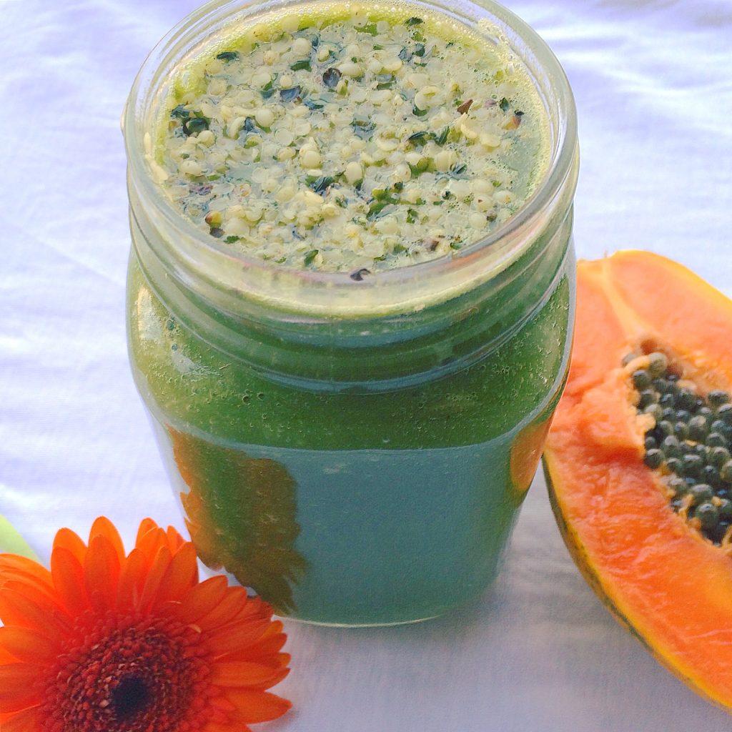 papaya and ginger smoothie
