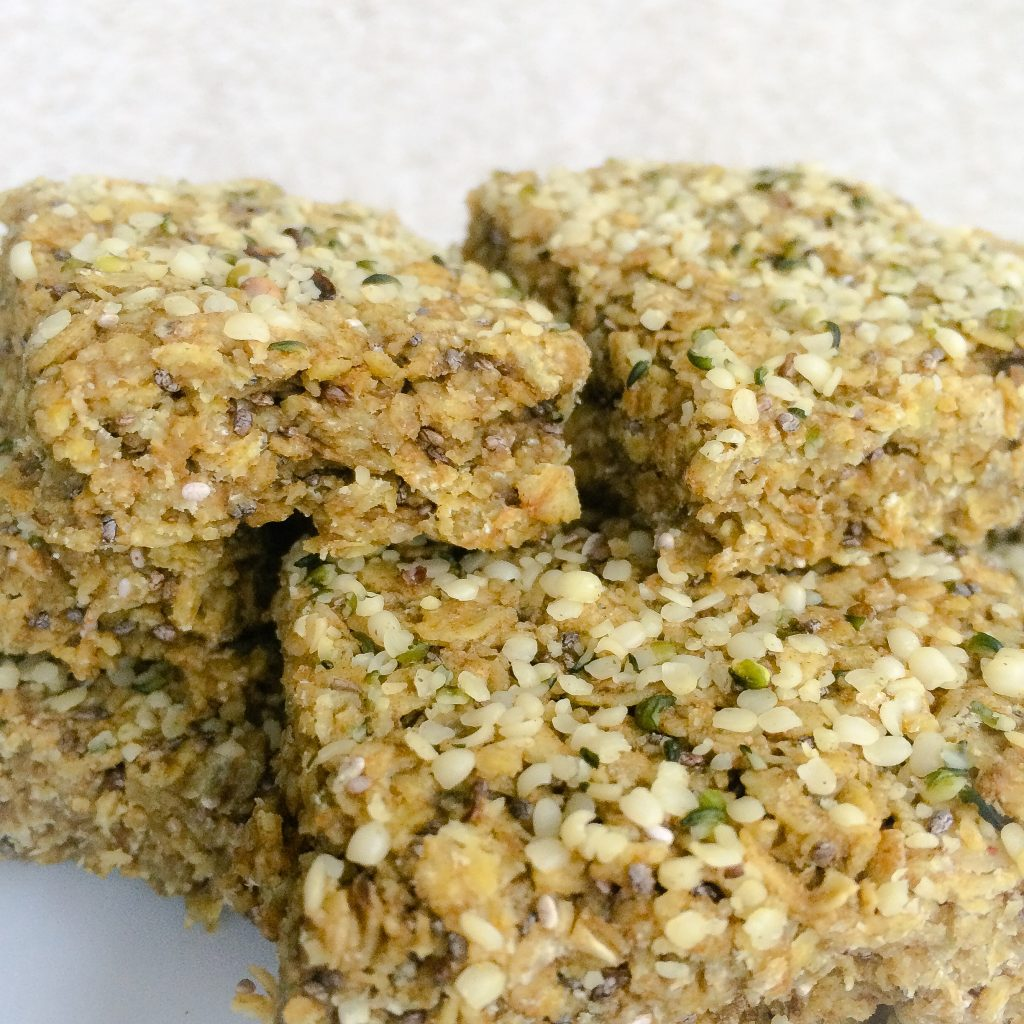 Chia and Hemp Protein Flapjacks | Nutritiously Naughty