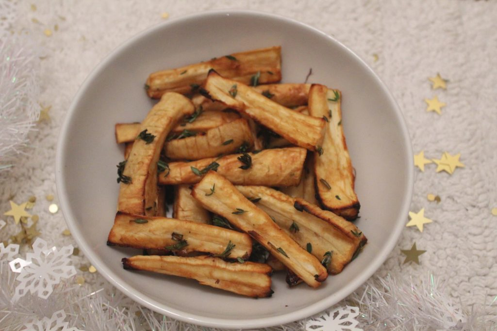 maple roasted parsnips