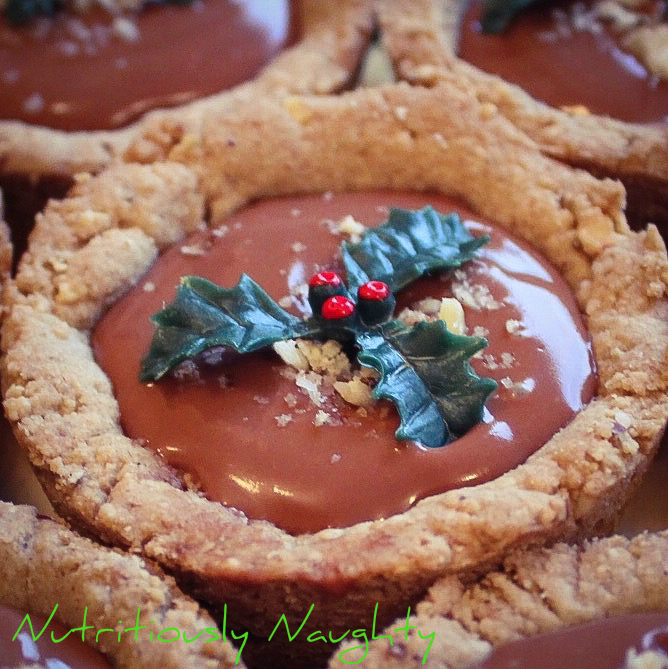 chestnut & chocolate cookie cups