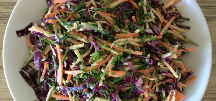 Tahini coleslaw