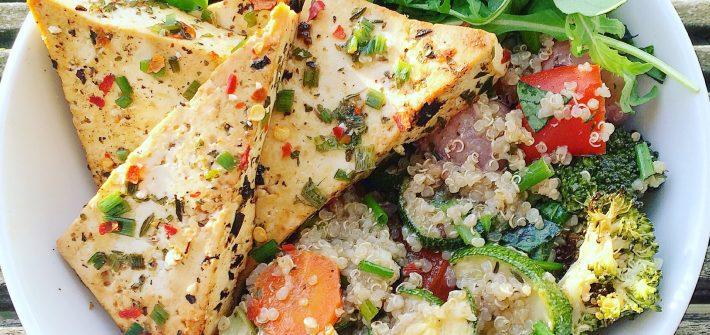Lemon, Chilli and Herb Marinated Tofu Steaks