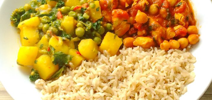 potato, kale and pea curry