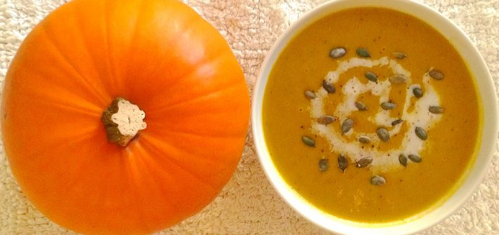 warming pumpkin and coconut soup