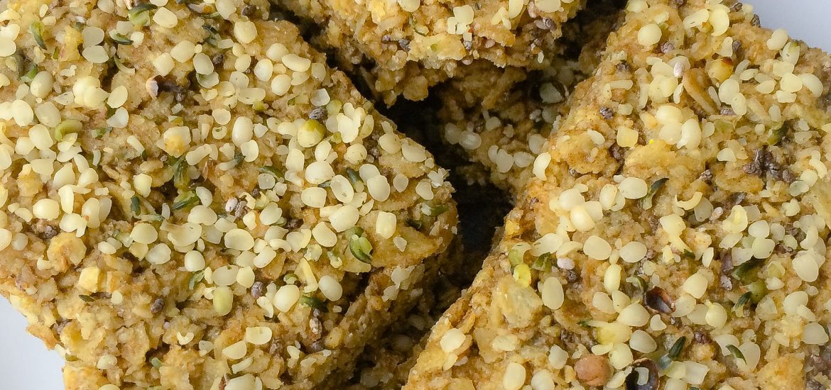 chia and hemp protein flapjacks