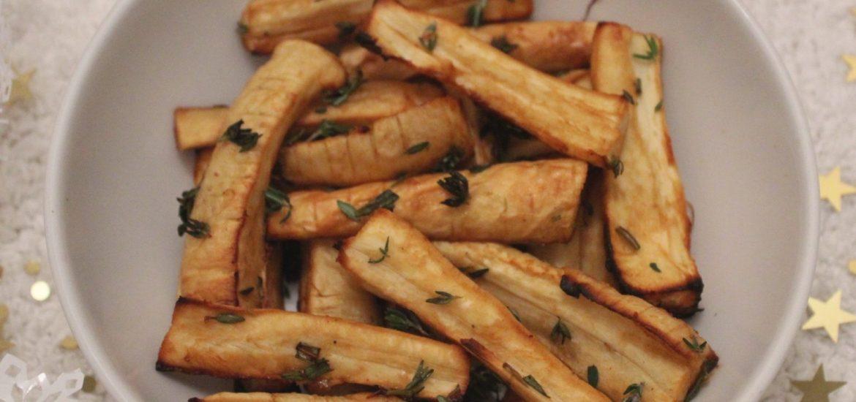 maple roasted parsnips