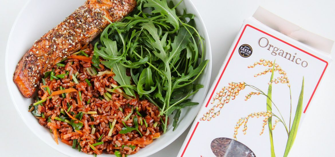 za'htar salmon & red rice salad