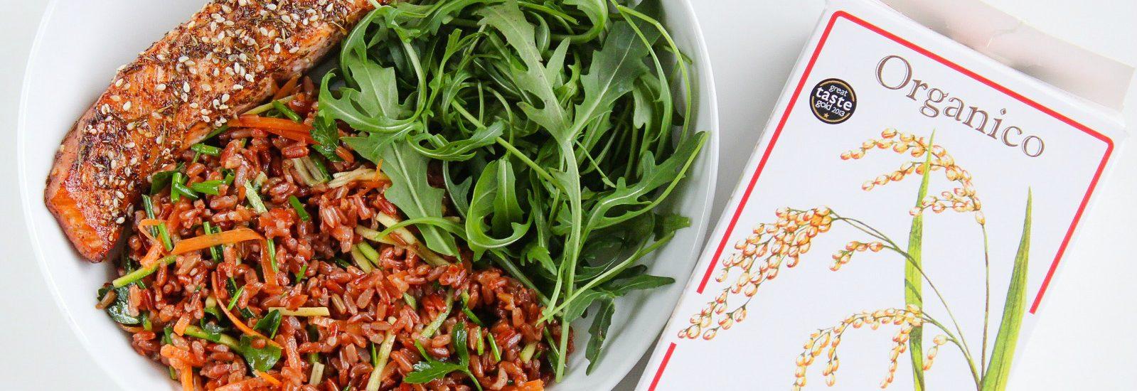 za'htar salmon & red rice salad