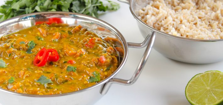 coconut, ginger & lemongrass dahl