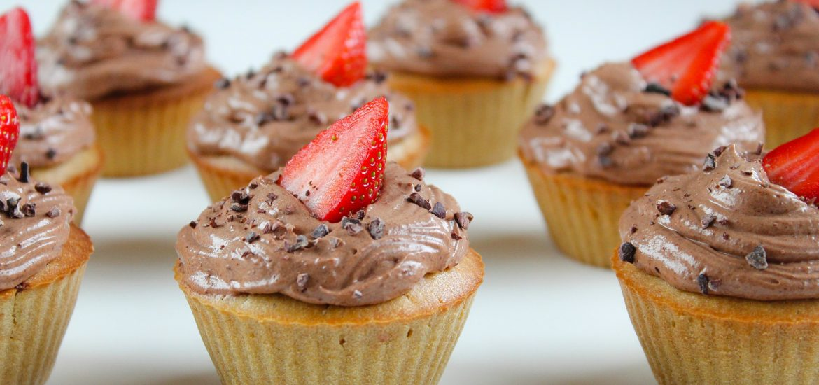 Coeliac Awareness Week: Quinoa Cupcakes with Chia Jam & Creamy Almond Butter Frosting