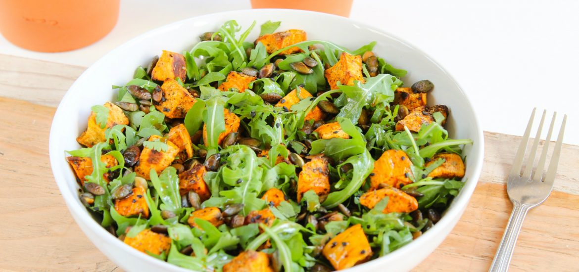 Simple Sweet potato & lentil salad