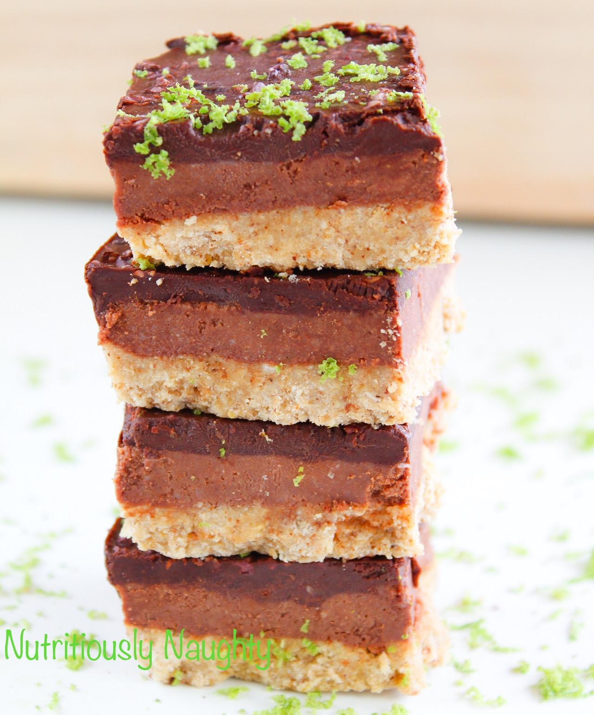 Chocolate & Lime Truffle Squares