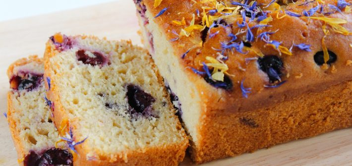 lemon & blueberry loaf cake