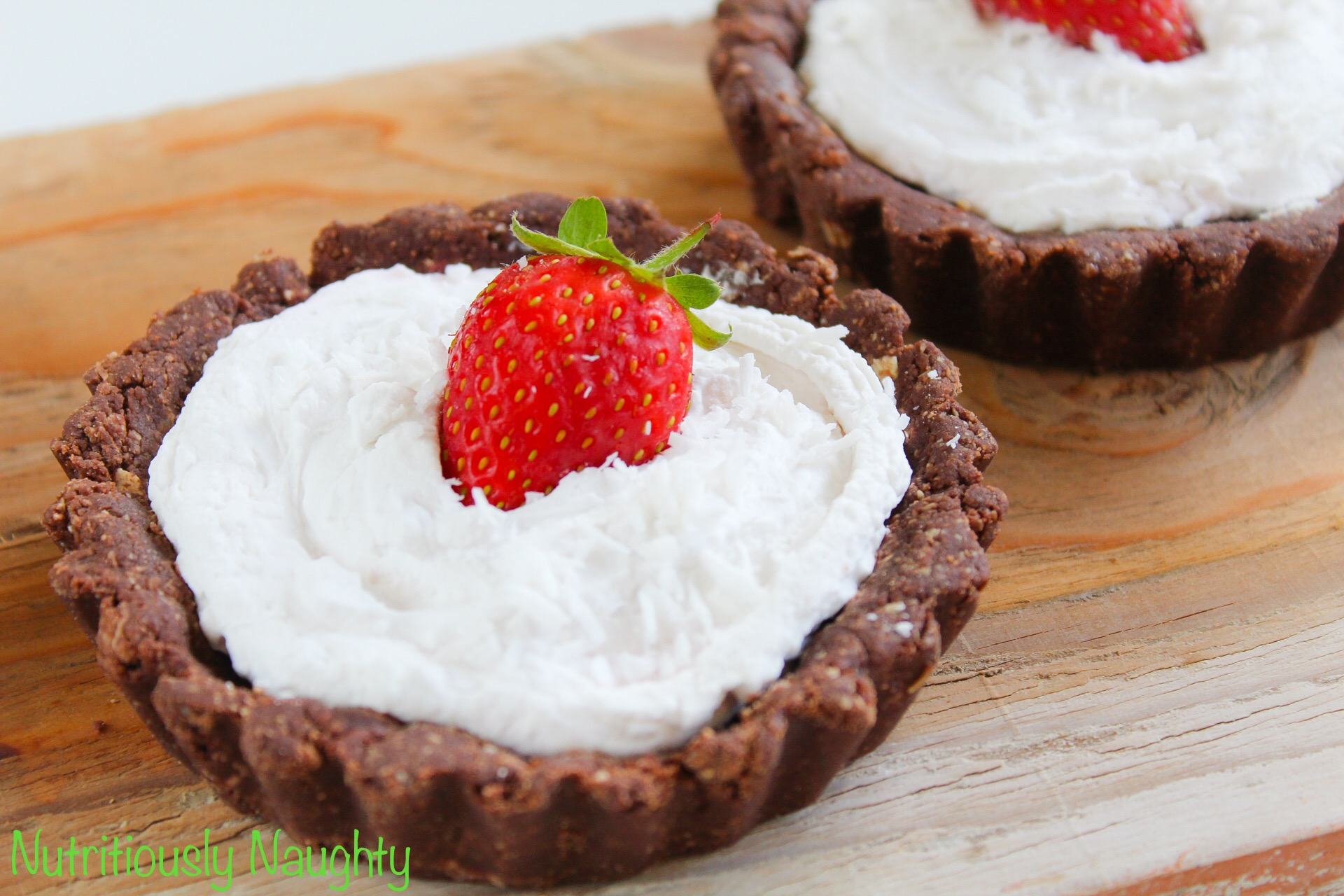 No-Bake Strawberry & 'Cream' Tartlets