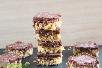 coconut & almond butter flapjacks