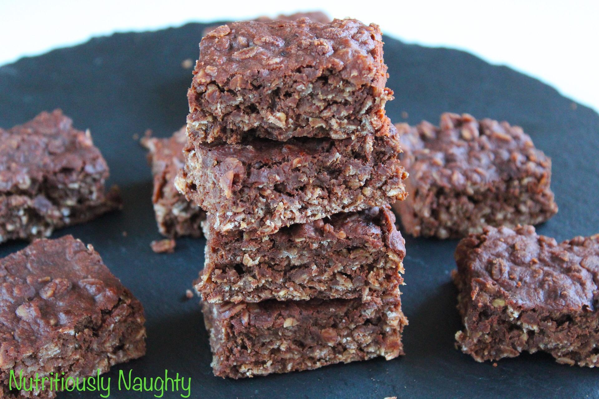 cacao, banana & peanut butter porridge squares